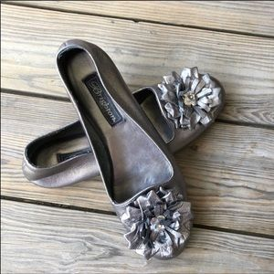 Brighton CARLY Leather Flats in Mercury